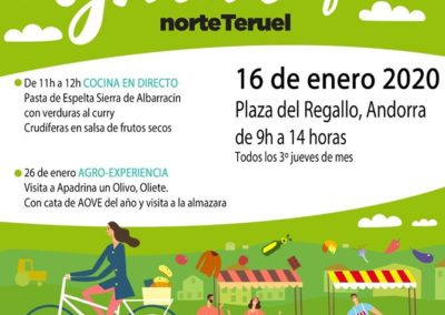 Mercado Agroecológico y local norte Teruel Enero 2020