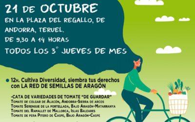 Mercado agroecológico y local norte Teruel 21 de octubre de 2021